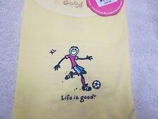 LIFE IS GOOD Girl's Soccer Tee Shirt (S) NWT