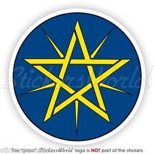 ÄTHIOPIEN Wappen ÄTHIOPISCHEN National Emblem Vinyl Sticker Aufkleber 90mm
