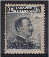 LIBIA 1912 c. 15 n° 5 MH* CENTRATURA PIU´ CHE DISCRETA € 330,00 - FIRMATO SORANI