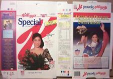 1992 Kristi Yamaguchi Kellogg's Special K unused factory Flat Cereal Box oc216
