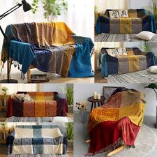 """86 x 102"""" Vintage Bohemian Tapestry Sofa Throw Blanket Anti-slip Rugs Rural Sale"""