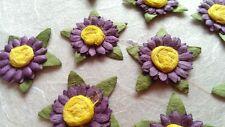 10 Single Flowers -Mulberry Paper/Handmade/embellishment/craft/cardmaking/DIY140