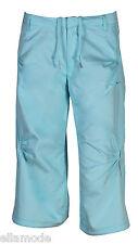 Nike femme bleu clair 3/4 longueur FITNESS GYM ENTRAÎNEMENT Pantalon FAST SHIP