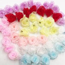 100pcs U pick organza Ribbon Flowers Bows Rose Sewing Wedding Appliques
