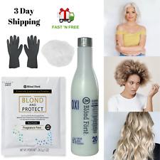 DIY Blond & Protect 8+ Level Hair Bleach Lightening Kit Combo -30 Vol Developer