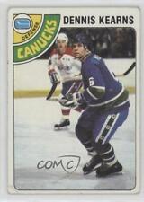 1978-79 Topps #191 Dennis Kearns Vancouver Canucks Hockey Card