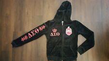 DELTA SIGMA 1913 THETA Zip Up Hoodie jacket 1913 DST FORTITUDE OOO-OOP Black