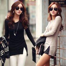 Damen Tunika Shirt Kleid Longshirt Bluse Japan Style