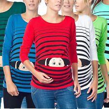 Umstandsmode Schwangerschafts-Mutterschaft_Sweatshirt mit Süßen Babydruck MMC
