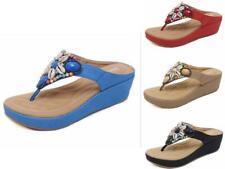 3e32553a997d Women Slip On Casual Sliders Sandals Flatforms Beach Platform Beads Shoes  2115-3