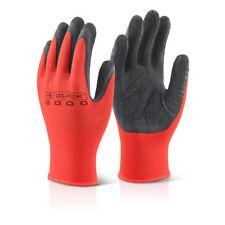 Palma látex húmedas Guante De Trabajo Mp4 Rojo Y Negro Poly Grip Guantes 10 Pack S-xl
