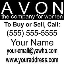 Avon Business Custom Car Truck Window Wall Laptop Vinyl Decal Sticker