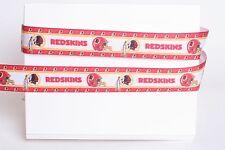"WASHINGTON REDSKINS FOOTBALL 7/8"" Grosgrain Ribbon Various Yard SHIP FROM USA"