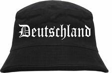 Deutschland Fischerhut - Altdeutsch - Schwarz - anglerhut bucket hat brd wm em