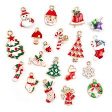 Wholesale 19pcs Enamel Metal Alloy Mixed Christmas Charms Set  Jewelry Pendants