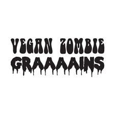 Grains Vegan Zombie - Vinyl Decal Sticker - Multiple Colors & Sizes - ebn3731