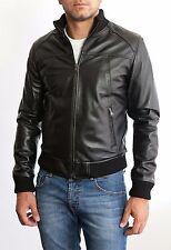 DE MAN LEDER JACKE 100% Lederjacke Man Mens Leather Jacket Biker Coat Slim 3s4