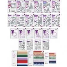 Tattered Lace Saisonale Trio Papier Packung 11 Metall Schablonen Glitzer Karte