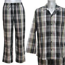 JOCKEY Herren Pyjama Schlafanzug lang mercerisierte Baumwolle gewebt kariert