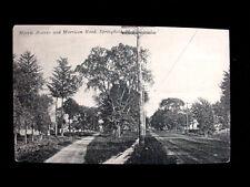 c.1910 Homes Morris Ave. & Morrison Rd. Springfield NJ post card