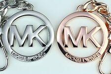 New In Box MICHAEL KORS MK Logo Medallion Key Chain, Fob, Key Ring MSRP $48.00
