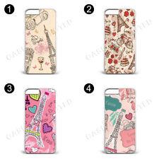 Love Paris Pattern custodia in plastica rigida per tutti i casi di Samsung e iPhone