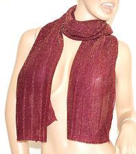SCIARPA donna BRILLANTINATA PRUGNA foulard pashmina scialle scarf écharpe шарф 5