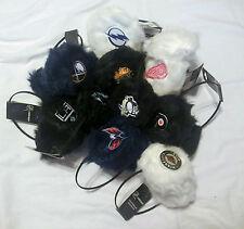 NHL FUZZY WOMENS EARMUFFS EAR MUFFS ( PICK YOUR TEAM )