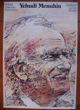 Yehudi Menuhin - Polish Poster - Swierzy