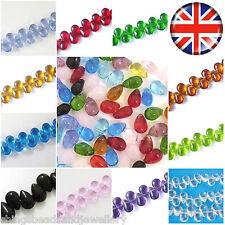 120 Crystal glass Teardrop Beads 9x6mm Jewellery Making Multi Listing