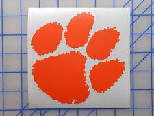 """Clemson Tigers Decal Sticker 3"""" 5"""" 7.5"""" Football Basketball College Hat Shirt Xl"""