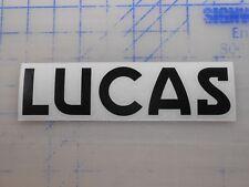 "Lucas Batteries Decal Sticker 5.5"" 7.5"" 11"" Golf Cart Marine Auto Lithium 12v 6v"