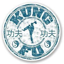 2 x Kung Fu Travel Vinyl Sticker Laptop Travel Luggage #4244
