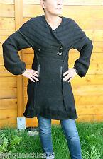manteau robe laine noire MC PLANET T 42 neuf étiquette HAUT DE GAMME val 258€