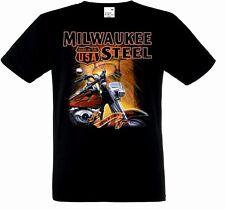 T Shirt  HD Biker V Twin-&Oldschooldruck 8 Farbtöne Modell Milwaukee Steel