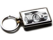 RANGE ROVER EVOQUE Mini SUV Car Koolart Chrome Keyring Picture Both Sides