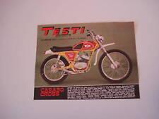 advertising Pubblicità 1972 MOTO TESTI CARABO CROSS