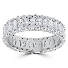 Women's 2 5/8ct Marquise Diamond Eternity Ring 14K White Gold