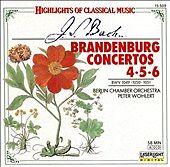Bach: Brandenburg Concertos 4, 5, & 6 (CD, Oct-1990, Laserlight)