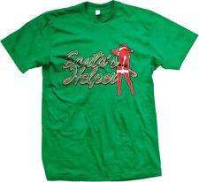 Santa's Helper - Sexy Elf Merry Christmas XMAS Funny Novelty -Mens T-shirt