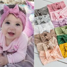 Baby Plain Headband Elastic Bowknot Hair Band Toddler Bow-knot Newborn Bow