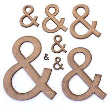 Ampersand '&' Sign Symbol. Craft Shapes, Embellishments, Decorations, 2mm MDF