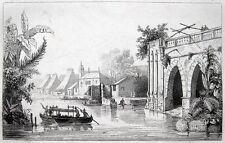 Ansicht View of Manila, de Rienzi 1836, Philippinen Asia Philippines Maynila