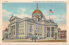 Washington County Court House Washington PA Postcard
