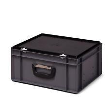 Euro-Stapelbox mit Koffergriff / Werkzeugkoffer 400x300x186 mm aus PP