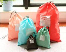 4PCS Shoe clothes Storage Drawstring Large Pouches Bags Travel Set Organizer Gym