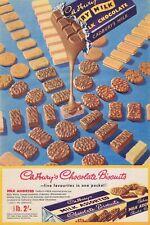 Cadburys Chocolate Biscuits Vintage Advertisment Retro Metal Sign, gift,