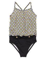 NWT Gymboree Swimsuit Basketweave Girls 5 6 7 yellow and black