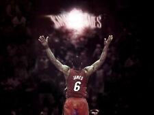 LeBron James King Miami Heat Powder Chalk Toss Ritual Huge Print POSTER Affiche