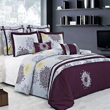 King/Calking Fifi 8-PC 100% Cotton Duvet Set Includes Down Alternative Comforter
